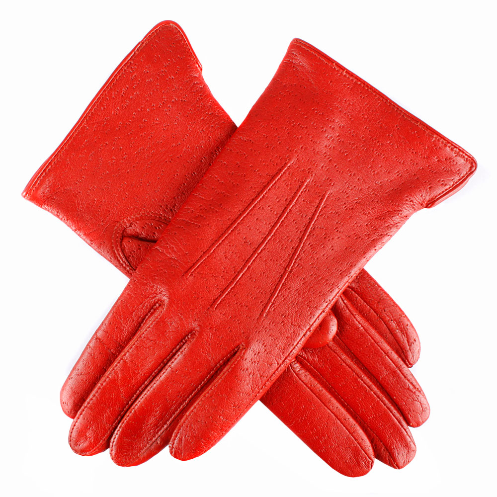 Dents Jessica Ladies Leather Gloves in Chilli Red
