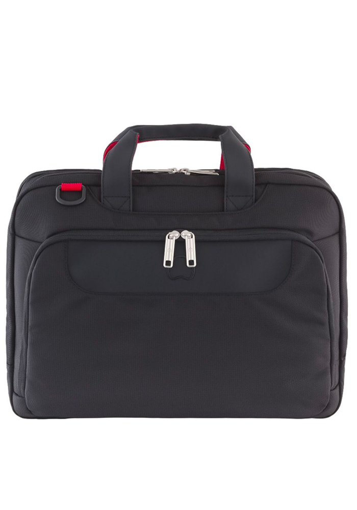 Front View of a Black Delsey Parvis Laptop Bag