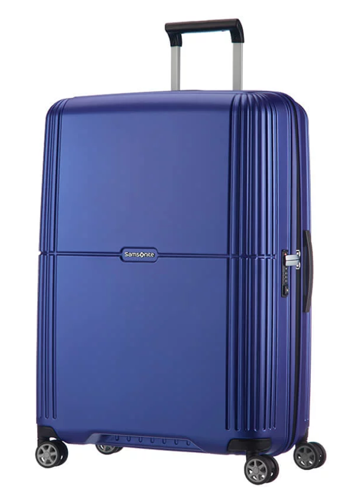 Samsonite Orfeo 75cm spinner suitcase in the colour Cobalt Blue
