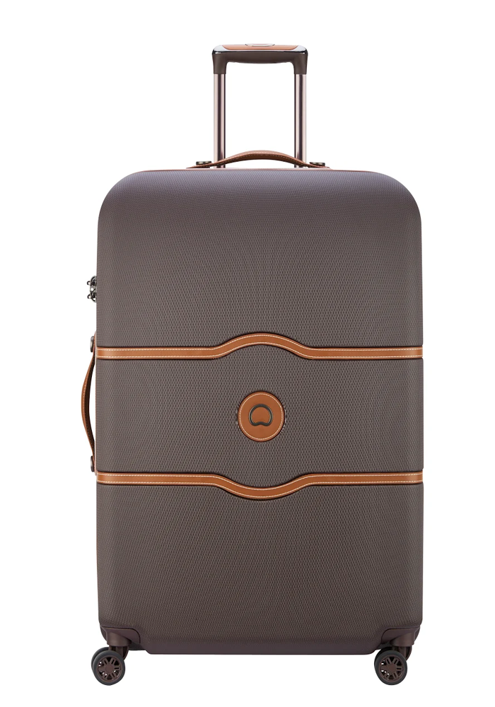 Delsey Chatelet Air 4-double wheel trolly case 77cm in the colour Chocolate
