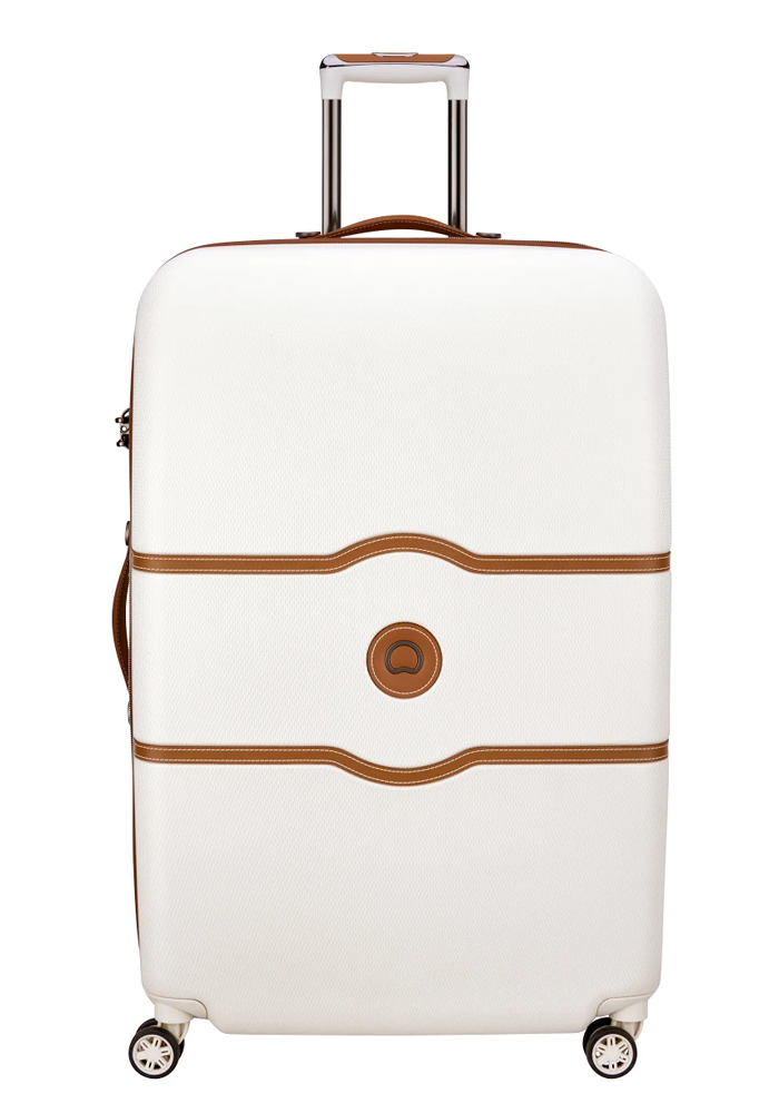 Delsey Chatelet Air 4-double wheel trolly case 82cm in the cream colour Angora