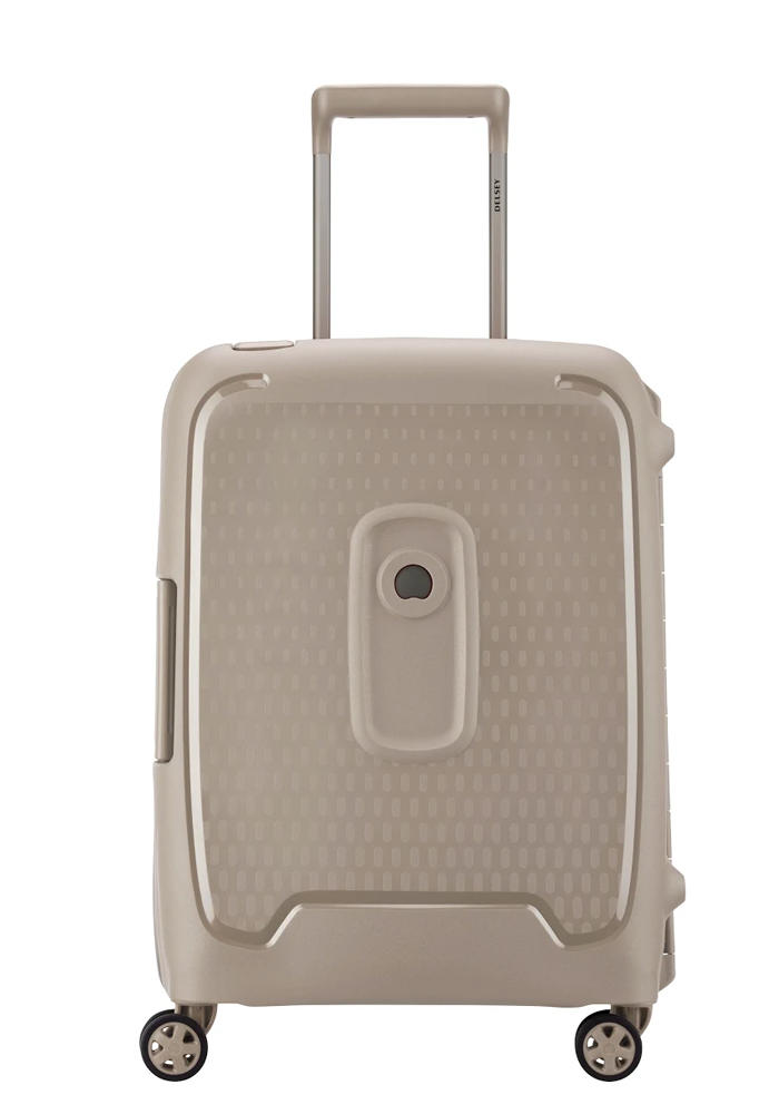 Delsey Moncey Spinner Suitcase 55cm in the colour Dark Beige