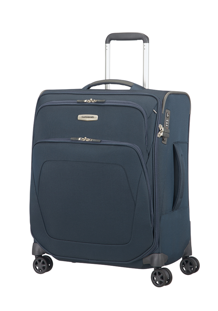Samsonite Spark SNG Expandable Spinner Suitcase 56cm in the colour Blue