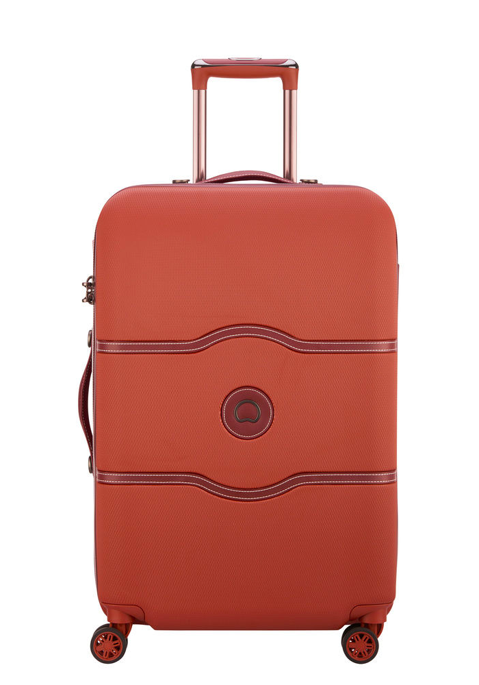Delsey Chatelet Air 67cm Spinner Suitcase in the colour Terracotta