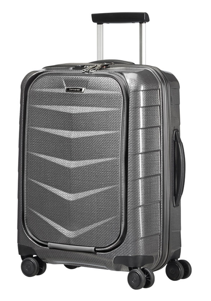 Samsonite Lite-BIZ 55cm Spinner Suitcase in Eclipse Grey