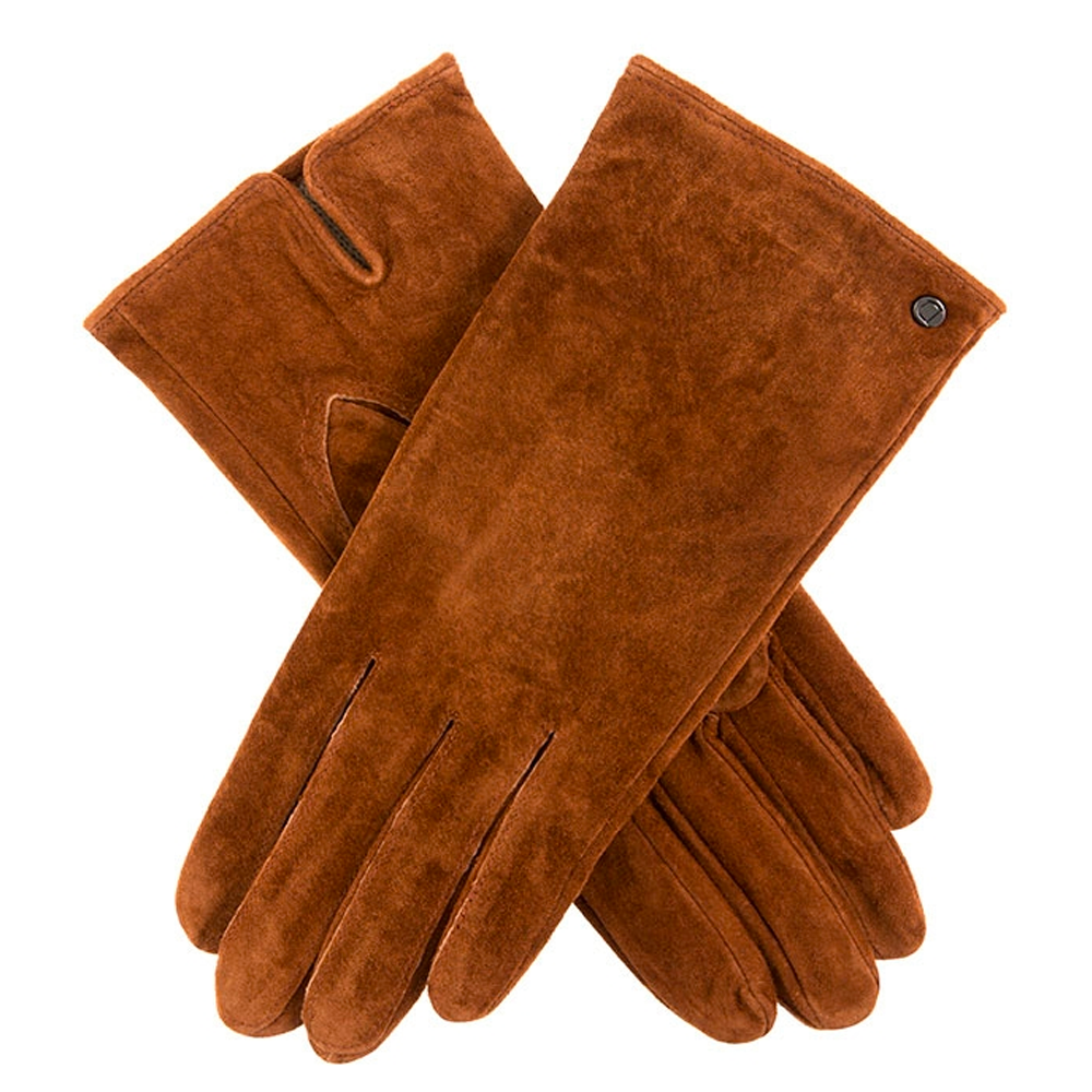 Dents Emily Ladies Suede Gloves in Cognac